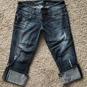 Guess cropped jeans with cuff